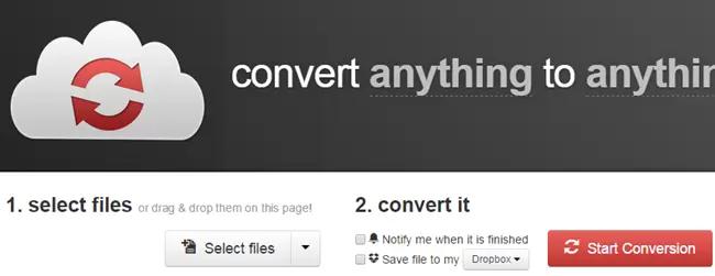 convertir le format audio avec CloudConvert