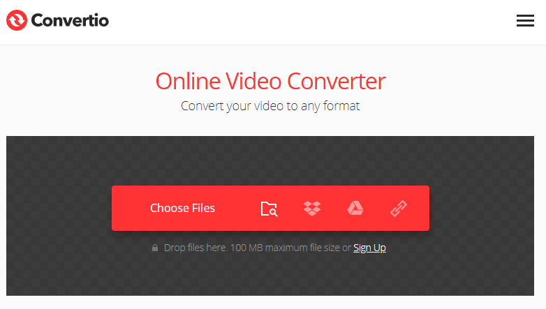 converter formato de vídeo com Convertio no Mac