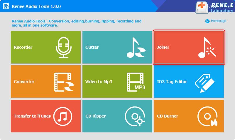 Função de agrupamento de arquivos de áudio do Renee Audio Tools