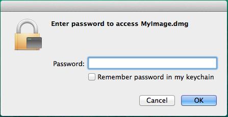 digite a senha para descriptografar o arquivo no Mac