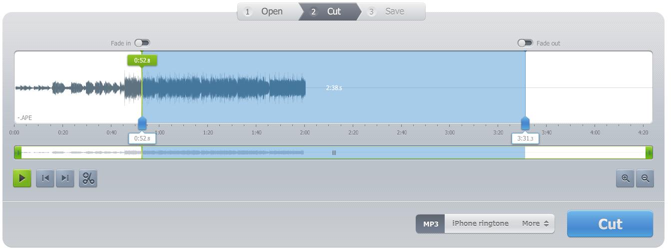 cortar arquivo de áudio com Audio Cutter Pro