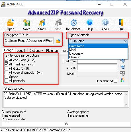 descriptografar o arquivo com AZPR