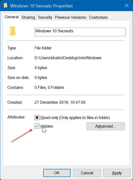 exibir arquivos ocultos w10