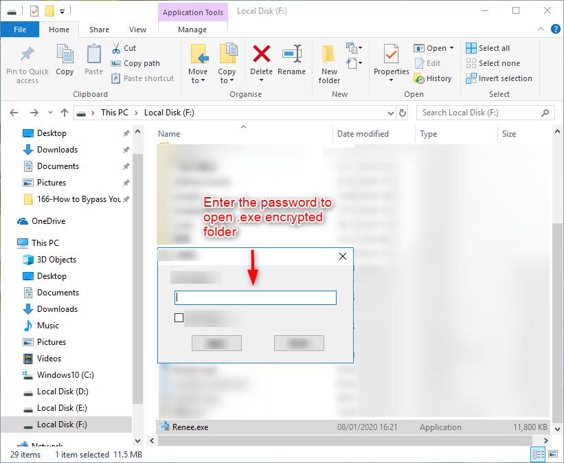 digite a senha para descriptografar o arquivo