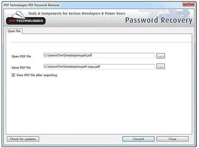 proteger um pdf com PDF Password Remover