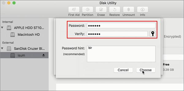 criptografar usb mac