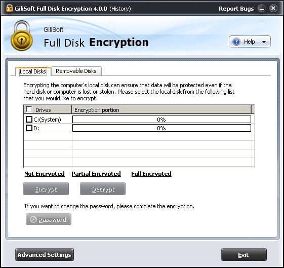criptografar arquivos com Gilisoft