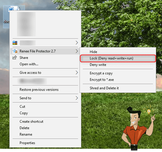 iniciar Renee File Protector