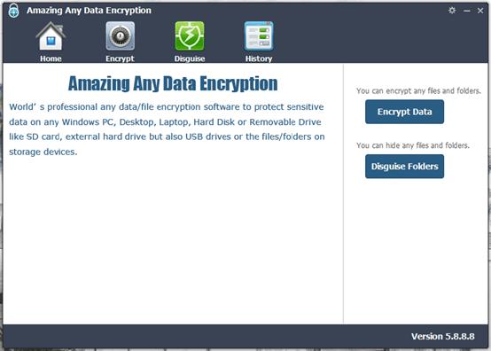 criptografar arquivos com Amazing Any Data Encryption